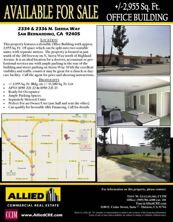 Sample Property Flyers - Tools - Resources - Allied Commercial ...