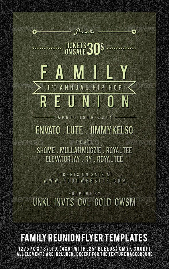 Family Reunion Flyer Template by maulanacreative | GraphicRiver