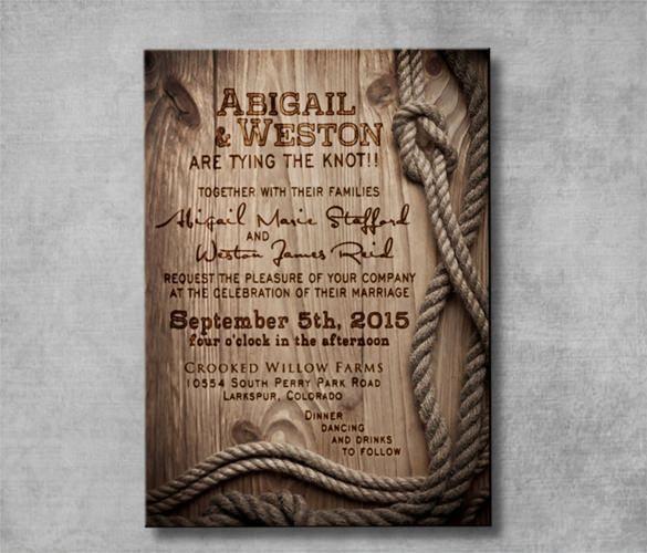 21+ Western Wedding Invitation Templates – Free Sample, Example ...