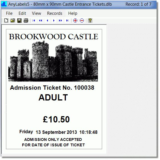 Ticket Printing Software