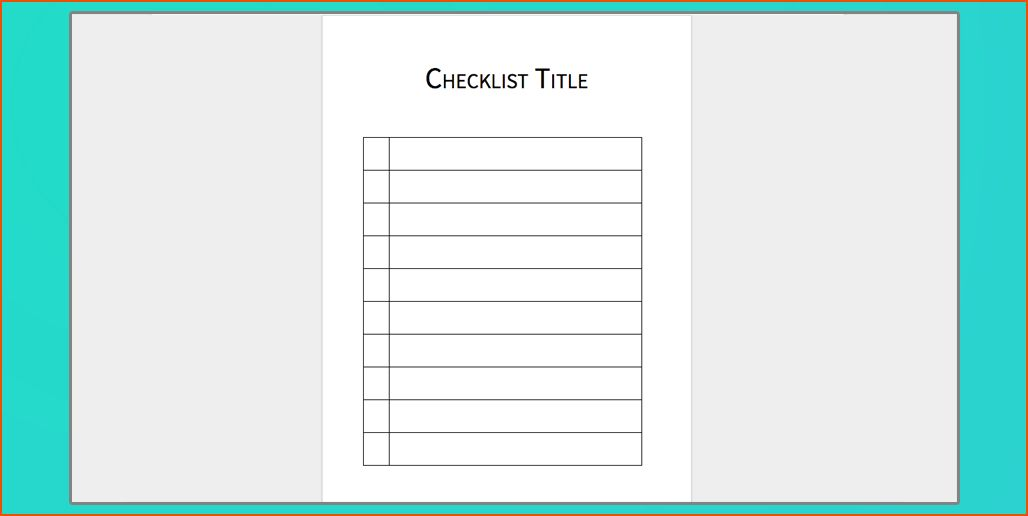7+ Microsoft Word Checklist Template   Bookletemplate.org