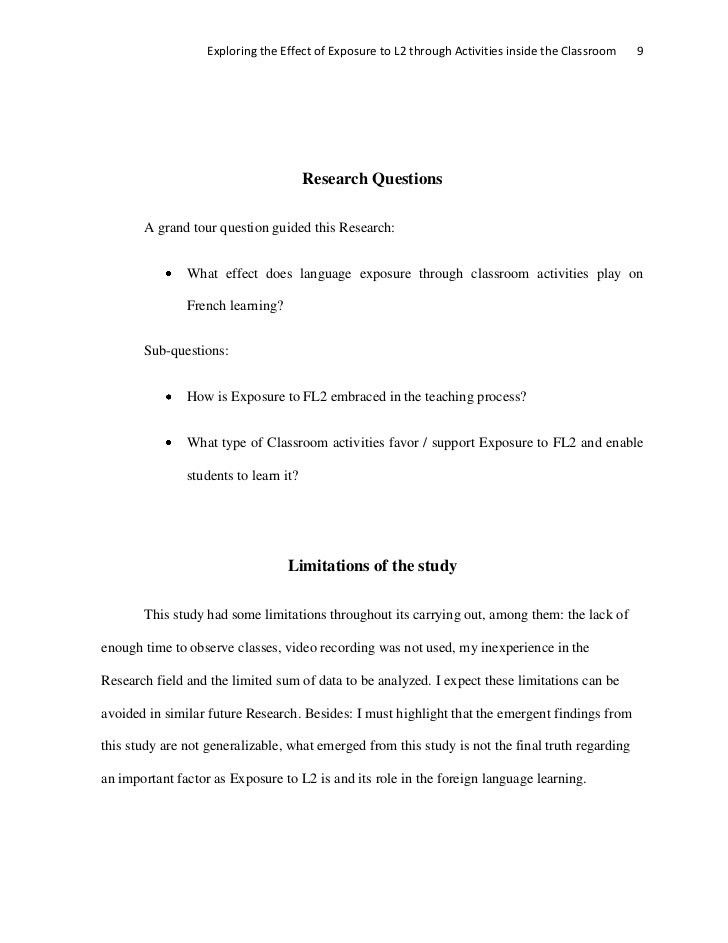 Applied research proposal 2012