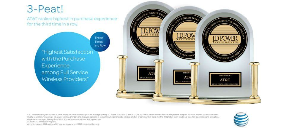 AT&T Ranks Highest in J.D. Power Wireless Purchase Satisfaction ...