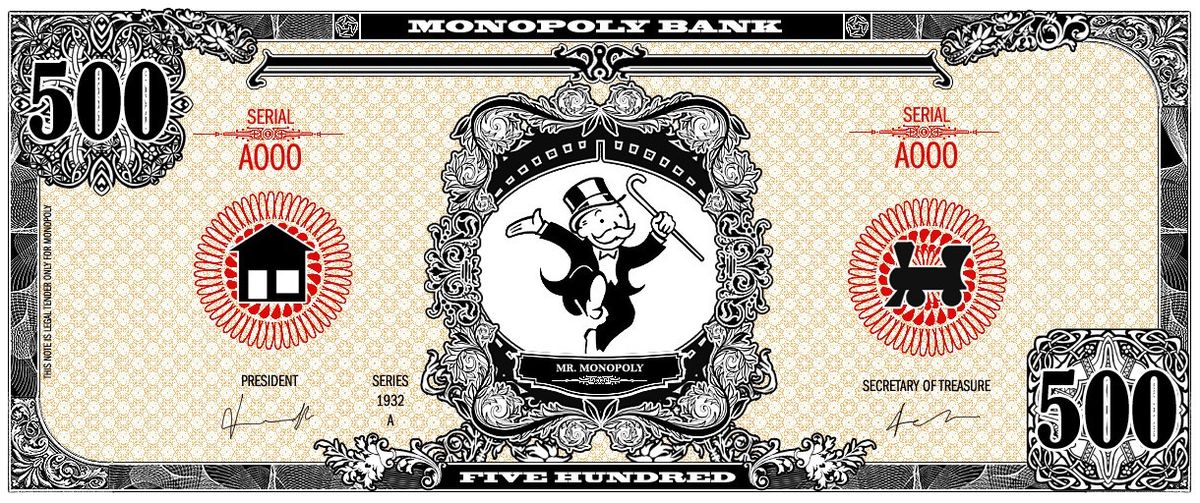 Monopoly bank note 500 poly by ironic440 on DeviantArt