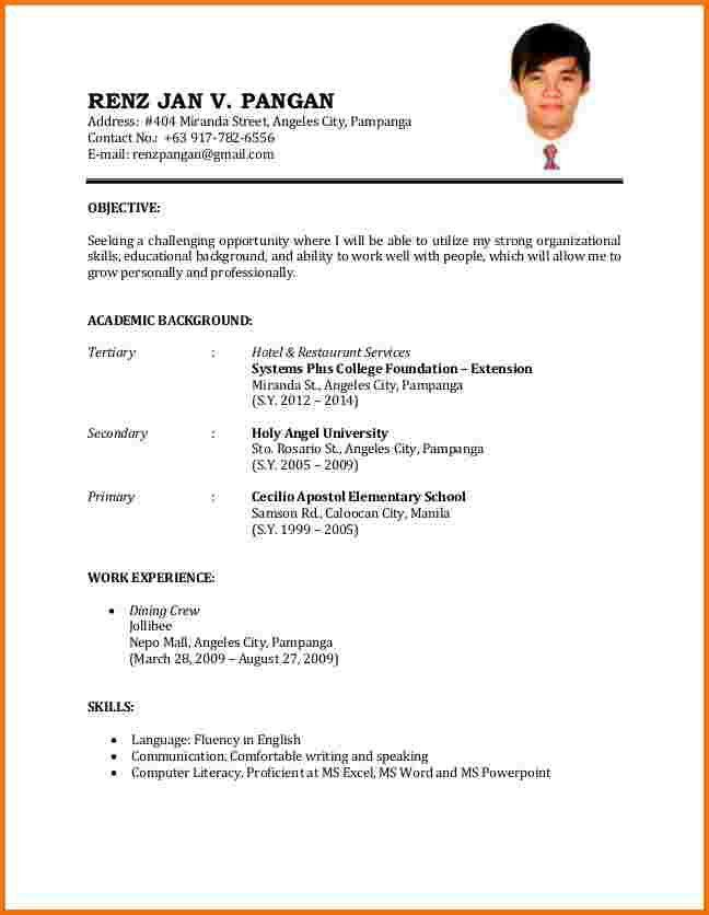 free invoice template simple applicant resume sample resume sample ...