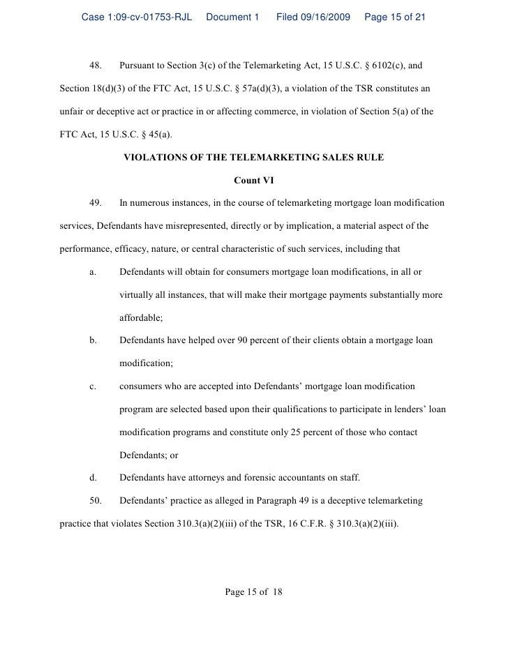 Page 1 of 18 UNITED STATES DISTRICT COURT DISTRICT OF COLUMBIA