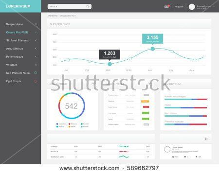 Dashboard Admin Panel Template Design Stock Vector 490678483 ...