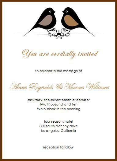 Wedding Invitation Samples   badbrya.com