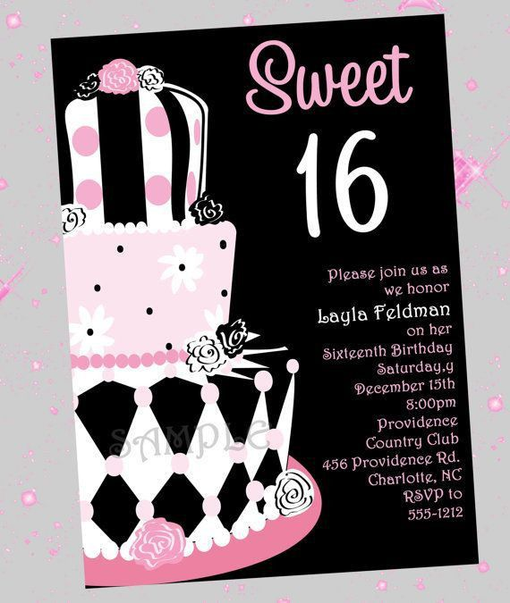 Birthday Invites: Wonderful Sweet 16 Birthday Invitations Design ...