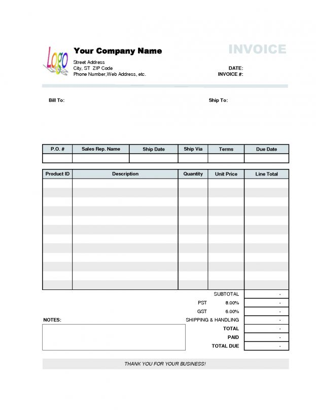 Moving Company Business Invoice Templates Template Sample Receipt ...