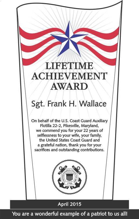 Military Lifetime Achievement Award (#207-1) | Wording Ideas | DIY ...