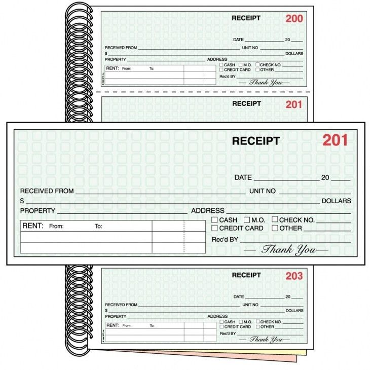 Rent Receipt Book-Three Part-Free Shipping-Take the hassle out of ...