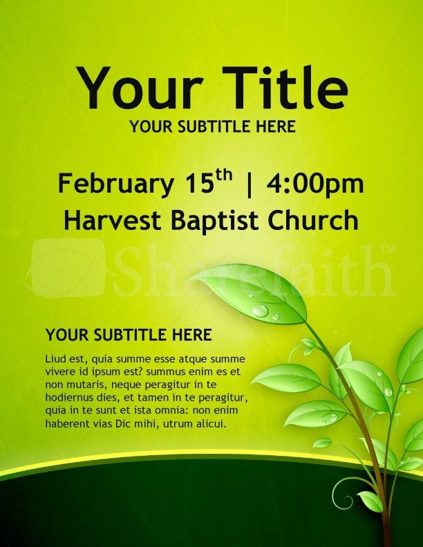 Christian Growth Church Flyers Template | Flyer Templates