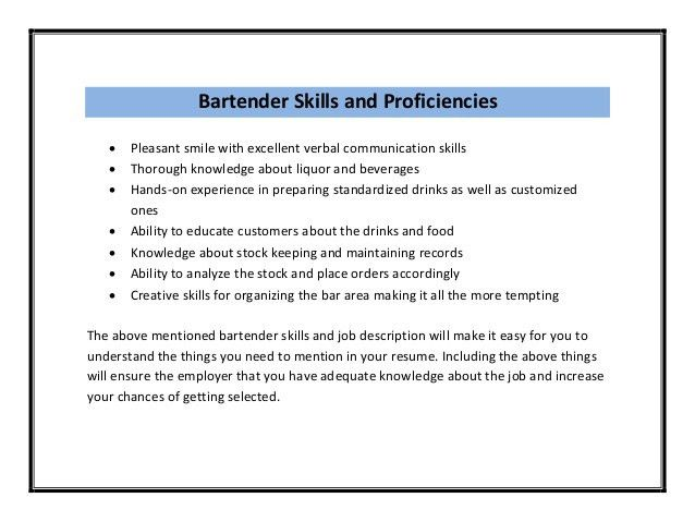 bar manager resume. mixologist resume example bartender resume ...
