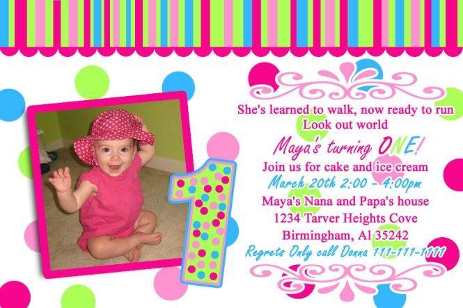 1st Birthday Invitation Card Maker | PaperInvite