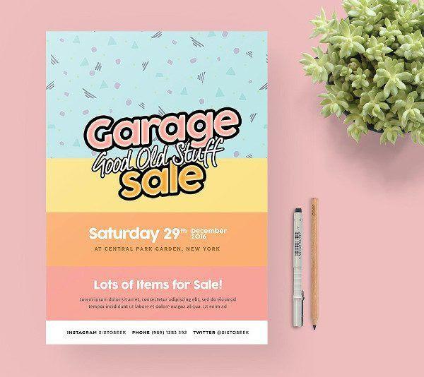 23+ Garage Sale Flyer Templates - Free PSD, AI, EPS Format Download