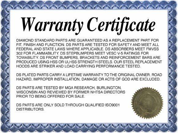 Warranty Certificate Template - Card - Certificate Templates