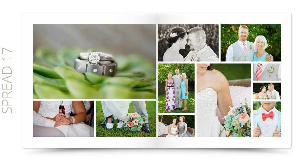 Wedding Album Photoshop Template | Petit Fleur 3 | The Album Cafe