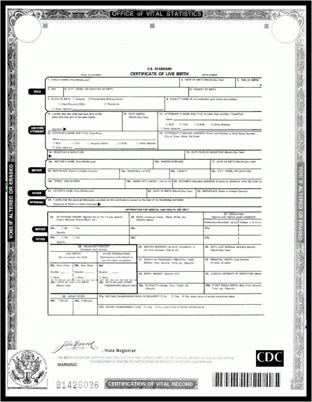 Birth Certificate Template Example : Masir