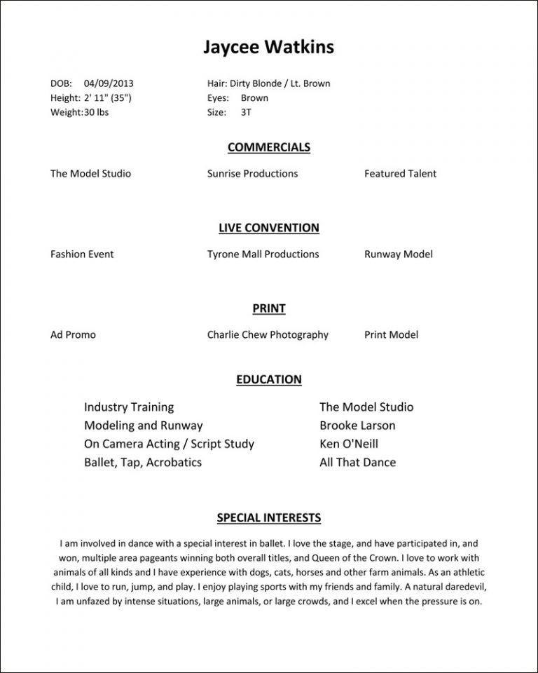 Wonderful Inspiration Modeling Resume 8 Modeling Resume - Resume ...