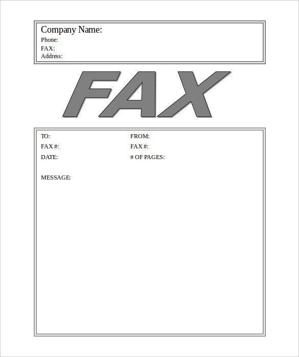 Business Fax Cover Sheet – 10+ Free Word, PDF Documents Download ...