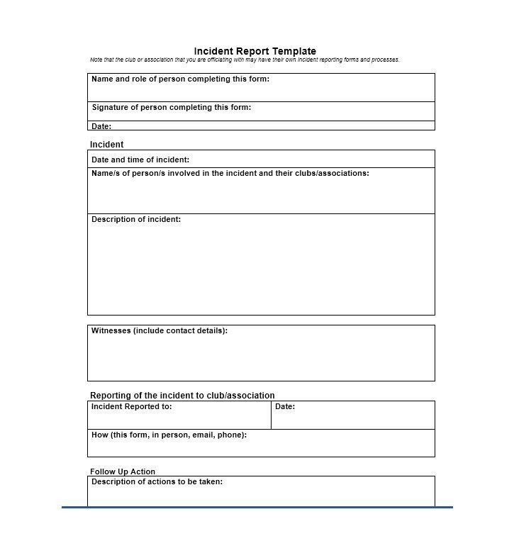 Patient Incident Report Form [Template.billybullock.us ]