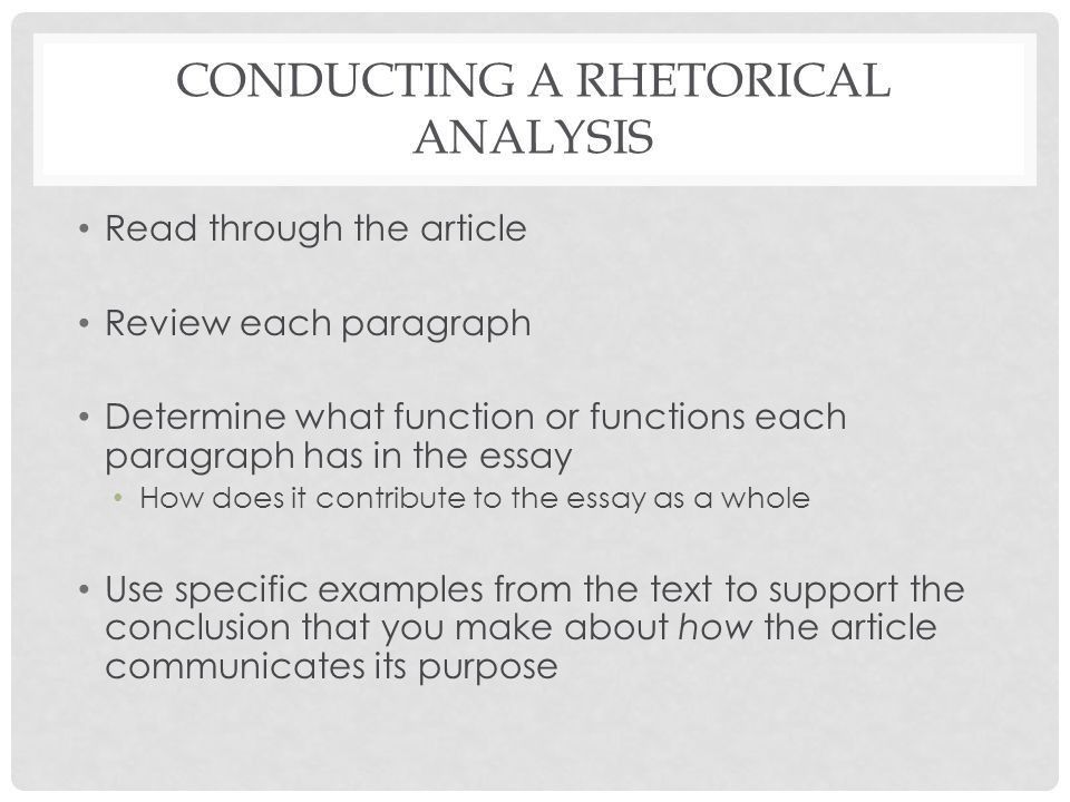 ENG 113: COMPOSITION I ARGUMENT (RHETORICAL) ANALYSIS PAPER ...