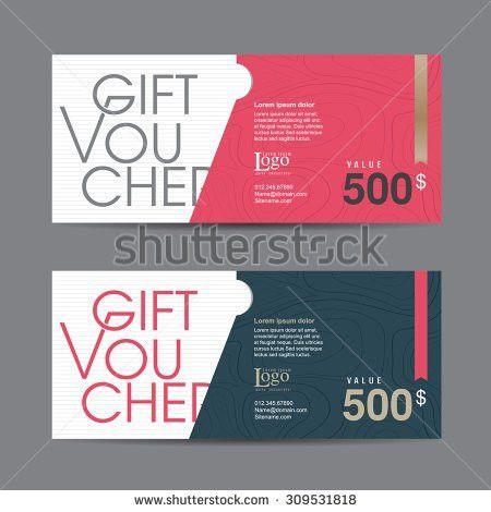 Gift Voucher Template Colorful Patternitalian Restaurantgift Stock ...