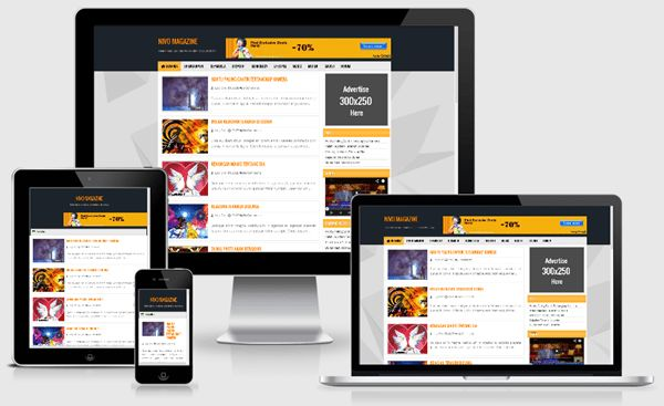 Nivo Magazine Responsive Blogger Templates - FLYTemplate