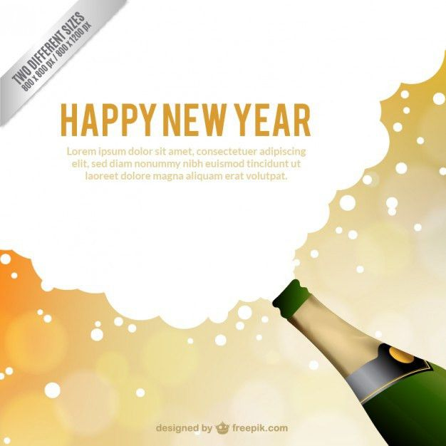 New Year card template Vector | Free Download