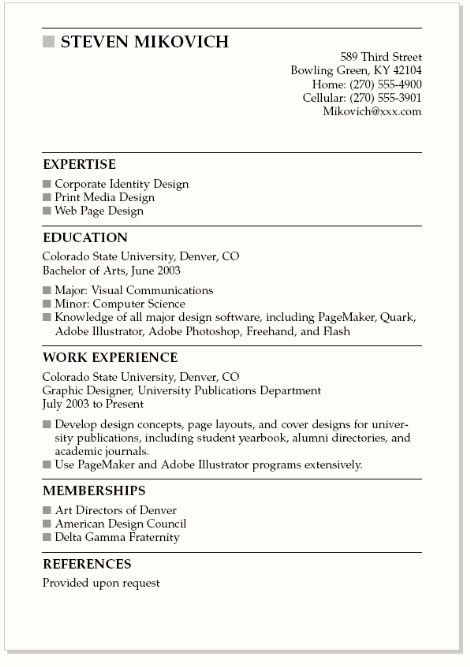 Best Resume Format 2016 Which One To Choose In 2016 College Resume ...