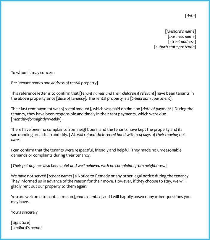 Tenant Recommendation Letter Sample. Sample Personal Reference ...