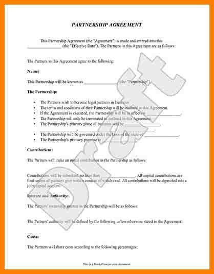 6+ business partnership agreement template | farmer resume