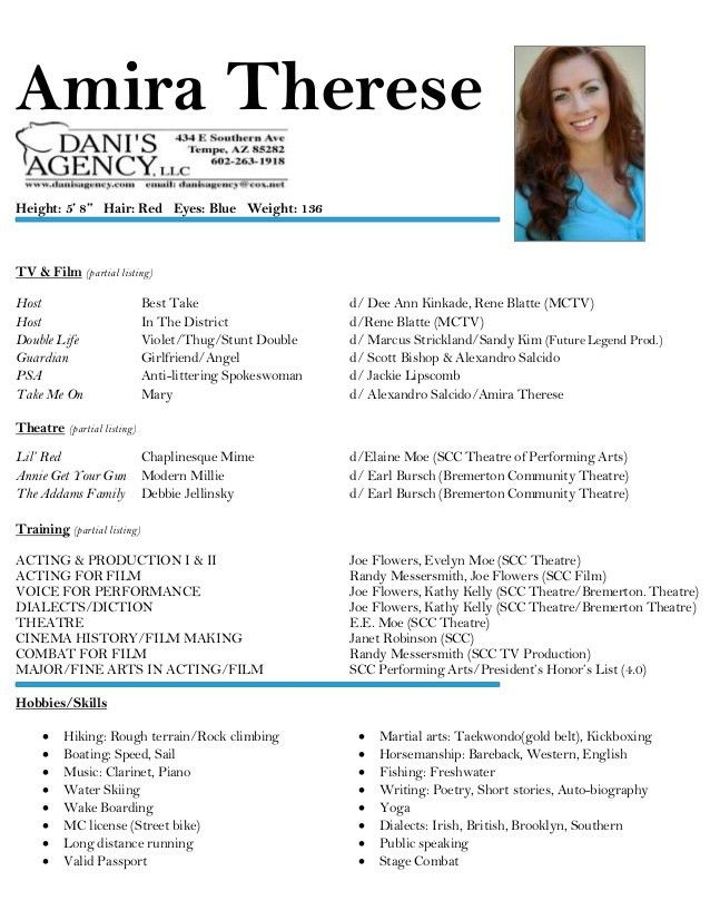 Download Actor Resume | haadyaooverbayresort.com