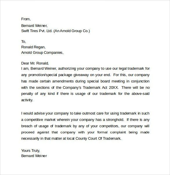 Legal Letter Template -8+ Samples , Examples & Formats