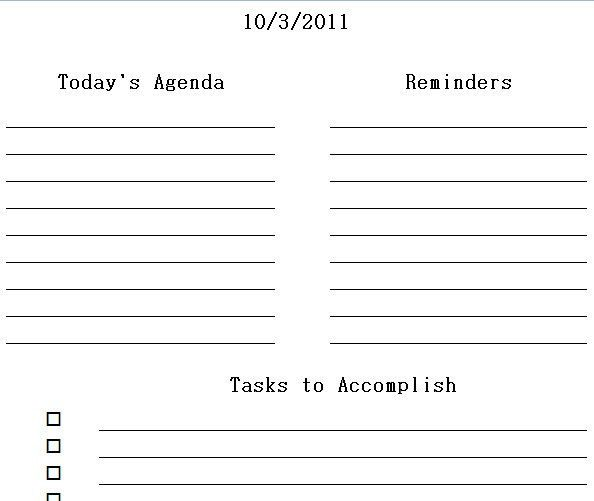 Printable Daily Planner Excel Templates | Daily Printable Planner ...