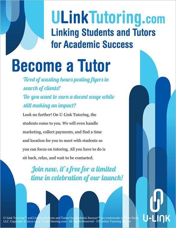 Tutoring Flyer Template - Printable Flyers in Word - Publisher ...