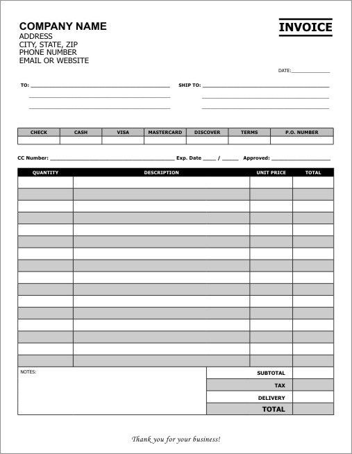 Carbonless Invoice Template Forms | Create Your Own Invoice