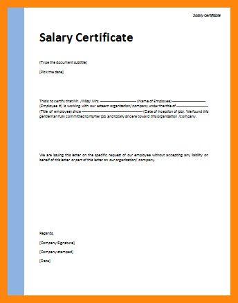 10+ salary certificate format in word | nurse resumed