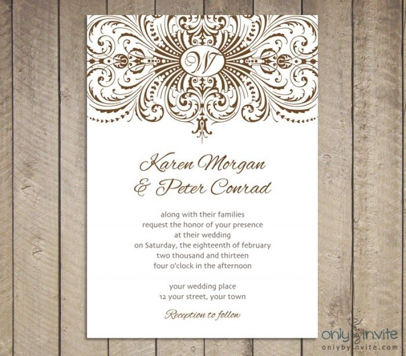 Wedding Invitations Templates Free Download | wblqual.com