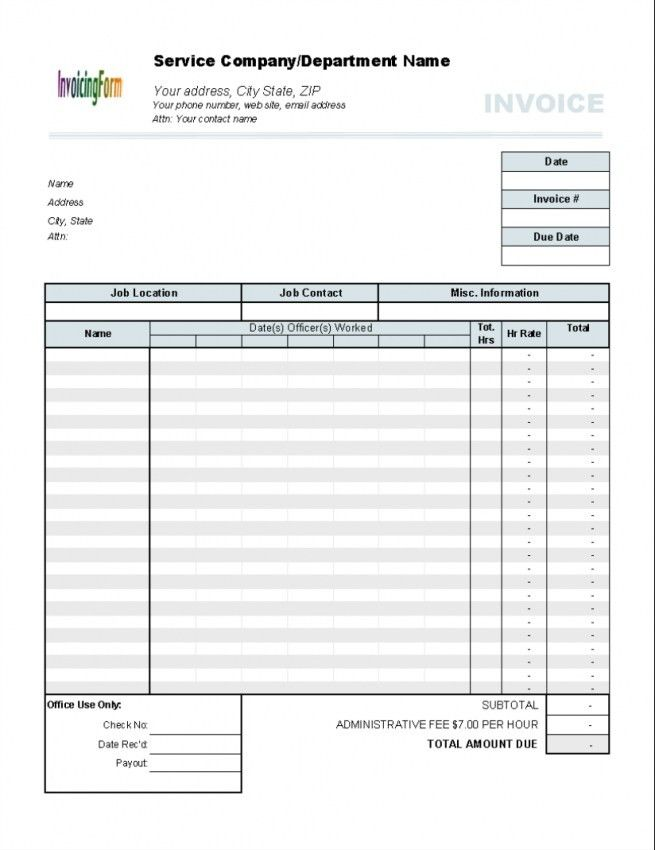 Download Hours Rate Invoice Template Word   rabitah.net