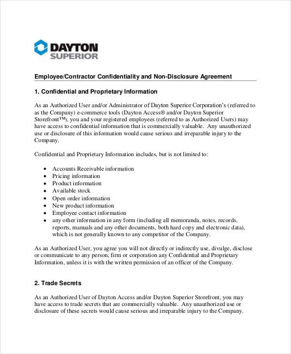 Contractor Confidentiality Agreement – 10+ Free Word, PDF ...