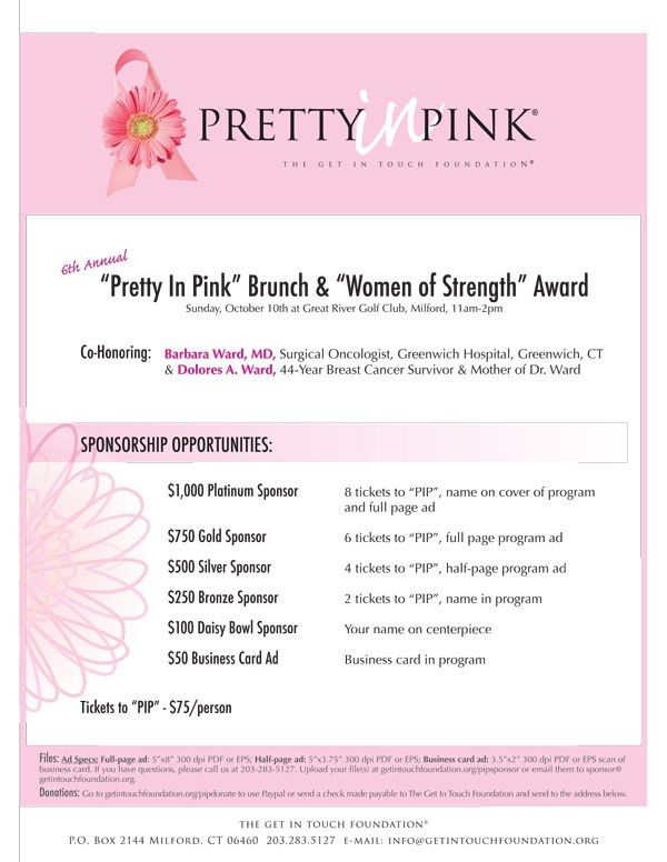 """Resources for Your """"Pretty In Pink"""" Event - Get In Touch ..."""