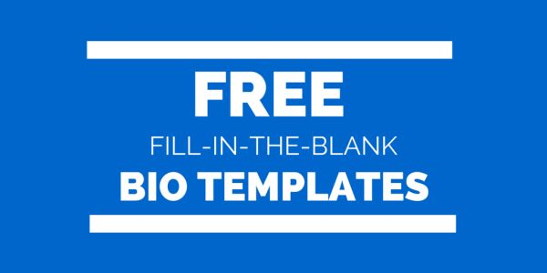 Free Fill-In-The-Blank Bio Templates for Writing a Personal or ...