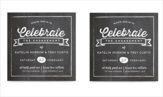 40+ Printable Engagement Invitations Templates | Free & Premium ...