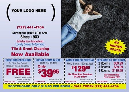 9 Brilliant Carpet Cleaning Direct Mail Postcard Advertising Examples