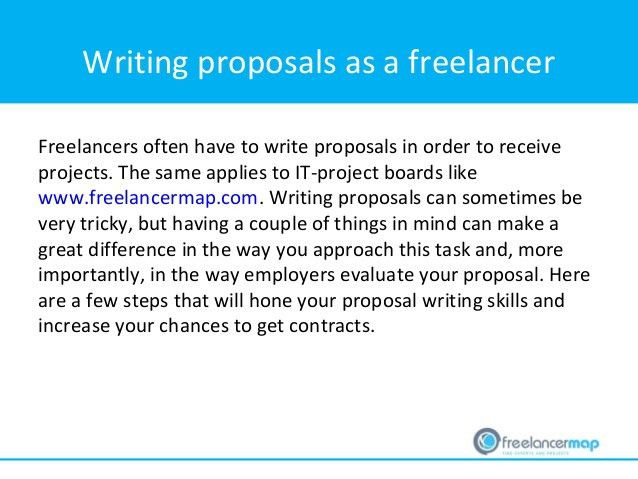 Freelancer tip: How to write a proposal as a freelancer?
