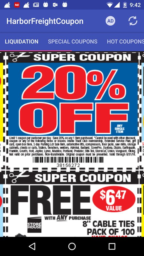 Coupons for Harbor Freight - Android Apps on Google Play