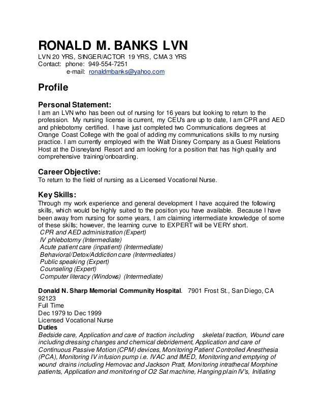 Banks LVN Resume 1-2017