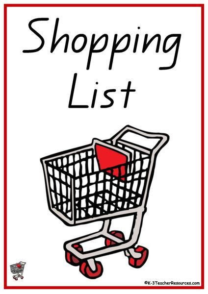 52 Shopping List Words